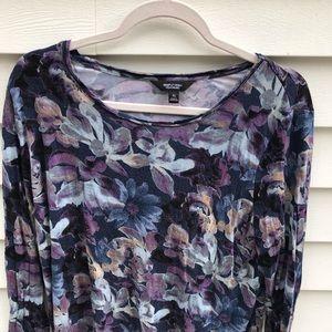 Simply Vera Wang Floral Shirt